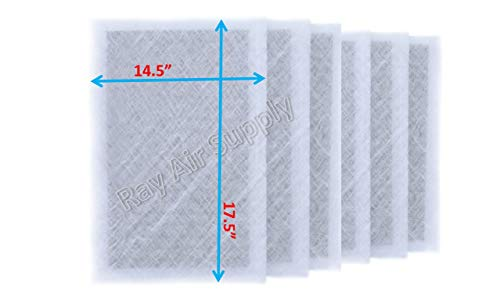 RayAir Supply 16x20x2 Dynamic P2000 Air Cleaner Replacement Filter Pads 16×20 Refills White (6 Pack)
