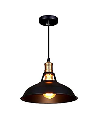 Splink Pendant Llight Vintage Industrial Edison Ceiling Light E26 Base Metal Head Lamp Shade Hanging Lamp for Loft Coffee Bar Kitchen