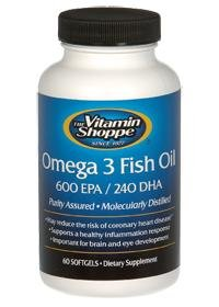Vitamin Shoppe - Omega 3 Fish Oil 600 Epa / 240 Dha, 1200 mg, 60 gélules