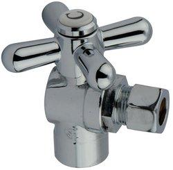 Cross Handle Sweat Angle (Kingston Brass CC43201X Vintage 1/2-Inch Sweat 3/8-Inch OD Angle Stop, Polished Chrome)