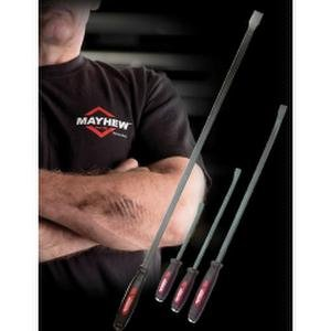 Dominator 58'' CurvedScrewdrive Pry Bar, 3Piece Dominator Screwdrive Pry Bar Set and Mayhew T-Shirt