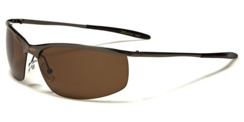 Xloop Black Metal Boating Polarized Driving Sunglasses (Gunmetal (Brown - Lens Discounter