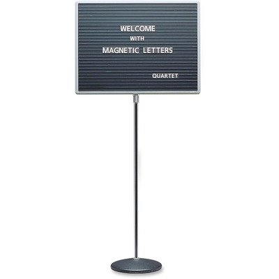 QRT7920M - Quartet Adjustable Single-Pedestal Magnetic Letter Board by Quartet
