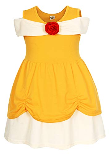 AmzBarley Belle Costumes for Baby Girls Toddler Halloween Princess Dress up Birthday Party Outfits Preschool Role Play Holiday Cosplay Playwear Dresses Size 1-2 -