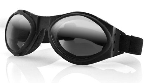 BUGEYE GOGGLE, BLACK FRAME, SMOKED REFLECTIVE LENS, Manufacturer: Zan Headgear, Manufacturer Part Number: BA001R-AD, Stock Photo - Actual parts may vary.]()