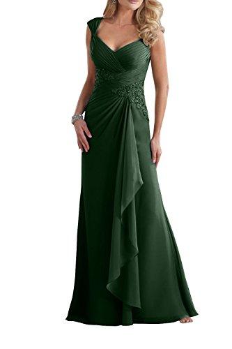Etuikleider Ausschnitt Spitze Brau Abendkleider mia V Gruen La Damen Brautmutterkleider Dunkel Promkleider Langes mit z0qxPwfA
