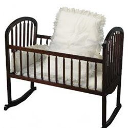 Babydoll White Eyelet Cradle Bedding, Tailored, 15'' x 33'' by BabyDoll Bedding