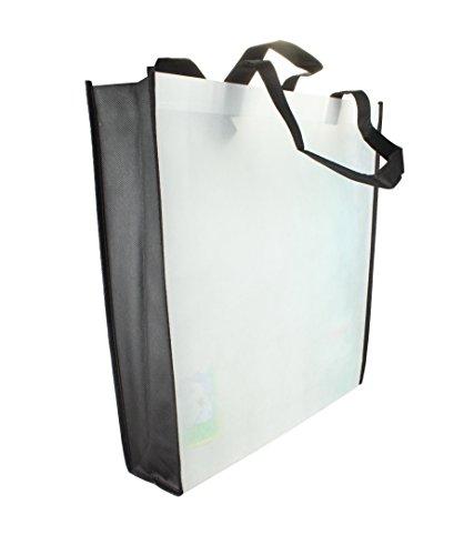Einkaufstasche Tragetasche Boden u. Seitenfalte günstige Tasche in Green Größe: 38 x 42 x 10 cm White cAVomQ2Yj