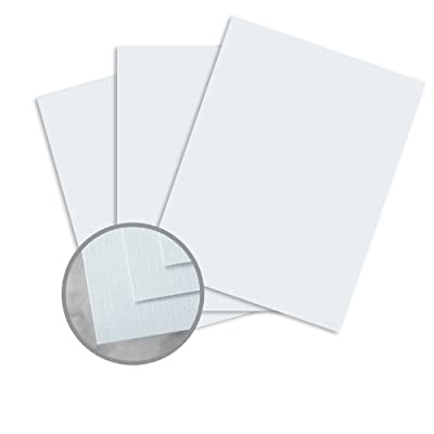 HOWARD Linen Sky Blue Paper - 8 1/2 x 11 in 24 lb Writing Linen 30% Recycled Watermarked 500 per Ream