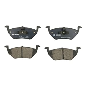 Bosch BC1055 QuietCast Premium Ceramic Disc Brake Pad Set For 2005-2008 Ford Escape; 2005-2010 Mazda Tribute; 2005-2008 Mercury Mariner; Rear