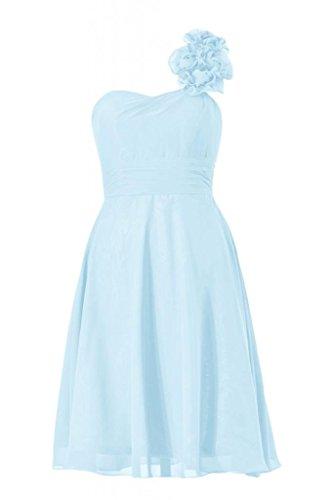Una 40 bm10358 Blu Da Monospalla ghiaccio Di Linea Vestito D'onore Partito Breve Daisyformals Damigella gwXSfxqS