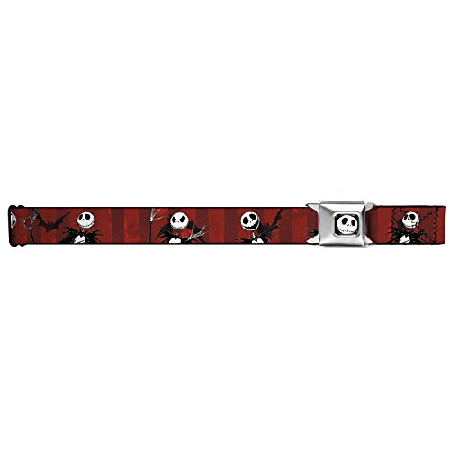 Buckle-Down Seatbelt Belt - NBC Jack Poses/Bats Red Stripe - 1.5