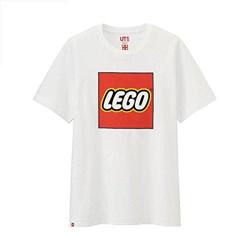 レゴ LEGO ユニクロ 企業コラボ Tシャツ Lサイズ 白 ホワイト ブロック ロゴ UT 半袖 おもちゃ メーカー