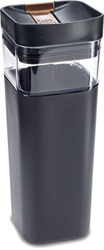 Precidio Design 5016BK Kafe in the Box Splashproof and Ecofriendly Reusable Coffee Mug/Travel Mug - 16 oz, Black
