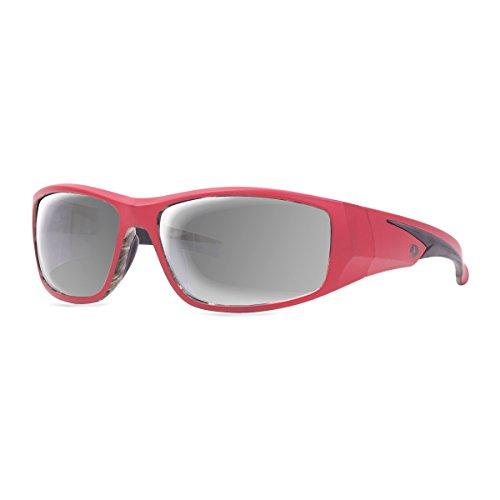 Mossy Oak Razorback Sunglasses, Mossy Oak Break-Up Infinity Camo, Red Frames, Smoke Lens