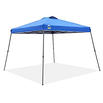 CROWN SHADES 11ft. x 11ft. Slant Leg One Push Up Clia Instant Folding Canopy With Wheeled Bag
