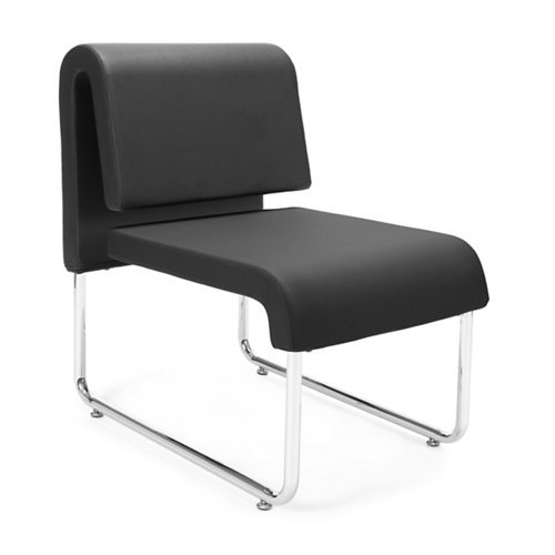 OFM Uno Series Lounge Chair, Black/Blue