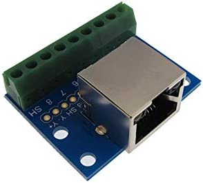 Dual RJ45 Ethernet Connector Breakout Board w// LED Screw terminals NS