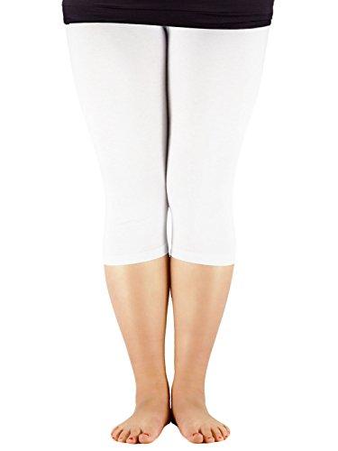 Capri Elastic Waist Leggings - 4