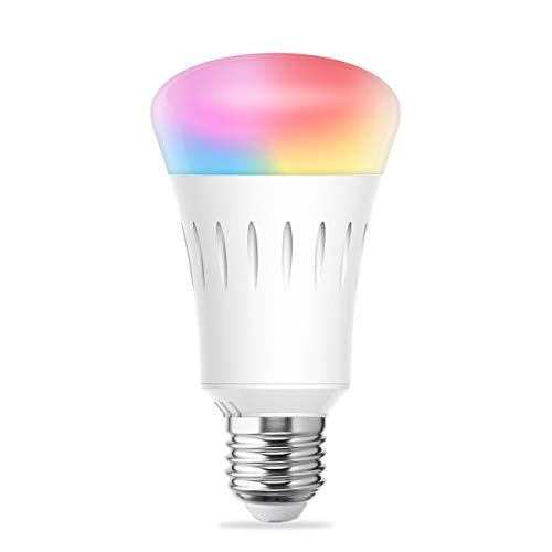 LOHAS Smart LED Bulb, Wi-Fi Light, Multicolored LED Bulbs(UL Listed), A19 LED Dimmable 60W Equivalent(9W), Smartphone Controlled Daylight & Night Light, Home Lighting Compatible with Alexa(1 Pack)