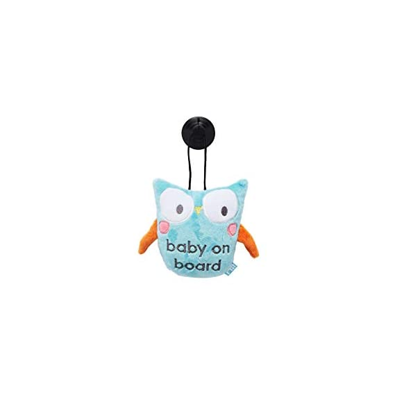 Mothercare Owl Baby On Board Sign, Multicolor