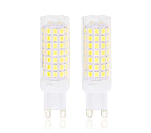 Cooper Crystal Table Lamp - Lamsky G9 LED Bulb,5.5W Daylight 6000K,AC110-130V,88X2835SMD,Not Dimmable,55W halogen replacement (2-Pack)