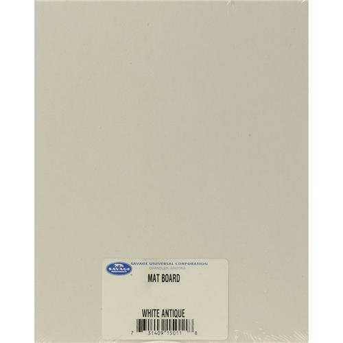 Savage 16x20'' Cut-Size ProCore Mat and Mount Board, White/Creme Smooth, 100 Sheet/Carton by Savage