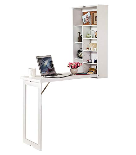 A fold out desk is a space saving kids furniture idea for a small kids bedroom