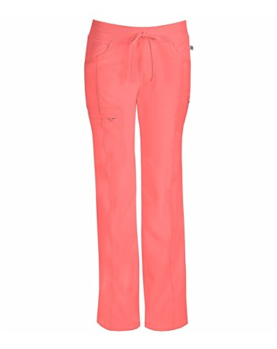 Delight Collection (Infinity by Cherokee Women's Rib Knit Drawstring Waist Scrub Pant XX-Large Apricot Delight)