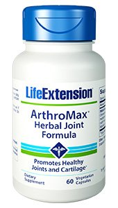 Life Extension ArthroMax Herbal Joint Formula, 60 vegetarian capsules. Pack of 1 bottle.