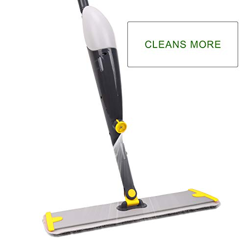 TreeLen Spray Floor Mop Kit with 3 Reusable Microfiber Pads 360 Degree Professional Handle Mop for Home Kitchen Hardwood Laminate Wood Ceramic Tiles Floor Cleaning