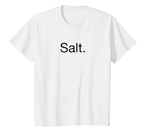 Kids Salt and Pepper Couples Easy Clever Halloween Costume Shirt 8 White