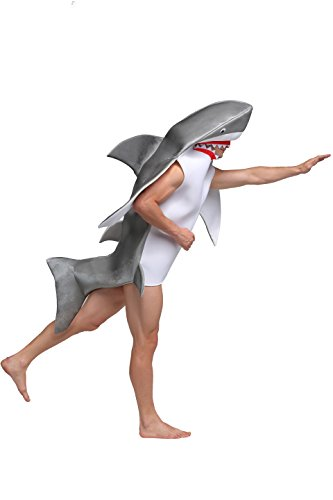 [GRACES]Unisex Adult Shark Cosplay Party,Halloween (Asian Man Halloween Costume Ideas)