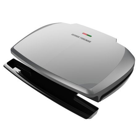 George Foreman 9-Serving Classic Plate Grill and Panini Press, Silver, GR390FP For Sale