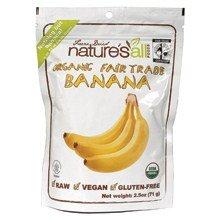 Nature's All Foods Fair Trade Freeze Dried Raw Banana (12x2.5 (Fair Trade Banana)