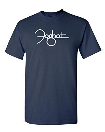 (Foghat Rock Band T-Shirt - Classic Rock Band Legend (3X, Navy Blue))