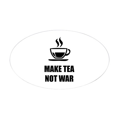CafePress - Make Tea Not War - Oval Bumper Sticker, Euro Oval Car Decal