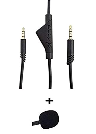 Astro 2 0m A40 TR Inline Mute Talkback Audio Cable Cord Free IENZA Mic Foam  Value Pack Compatible Xbox One, Playstation 4 PS4, Switch Most Smartphones