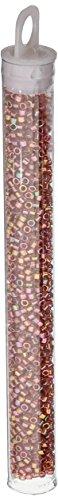 Miyuki Delica Seed Bead 11/0 DB103, Lustered Ruby Gold, 9-Gram/Pack