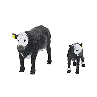 Big Country Toys Black Baldy Cow & Calf - 1:20 Scale - Hand Painted - Farm Toys - Farm Animals: Toys & Games