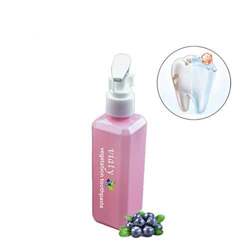 ワームの面では増強するArvolno 歯磨き粉 ホワイトニング ブルーベリー味 ソーダ 無添加 フッ素なし 虫歯予防 口臭防止 歯の汚れを強く除去する!50ml