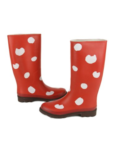Rainboots Cat's Rubber Print Red Womens Tsumori Chisato Twxq11C