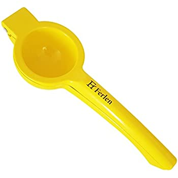 Lemon Squeezer STOCK LIQUIDATION Best Manual Press Citrus Juicer - Heavy Duty Food Safe Enameled Aluminum