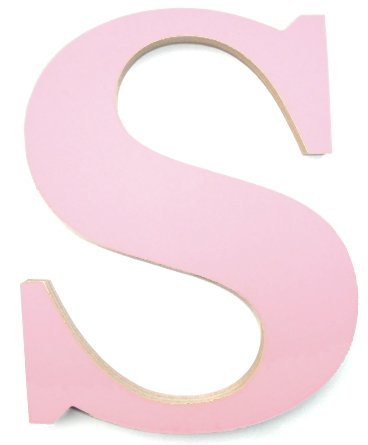 Large Pink Wooden Letter S Amazoncouk Kitchen Home