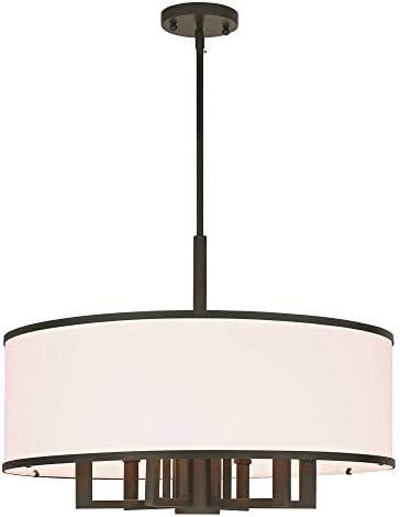 Livex Lighting Park Ridge 7-Light Pendant Chandelier – 24 Dia. x 20.25 -56.25 Adj.H