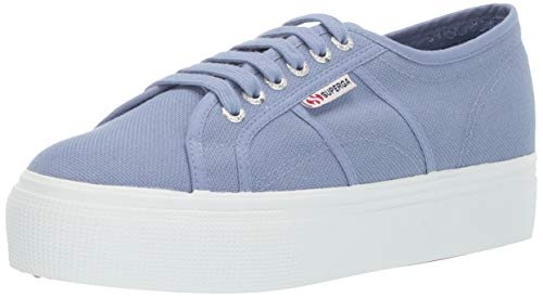 Superga Women's 2790 ACOTW Sneaker, Blue Light Violet, 41 M EU (9.5 US)