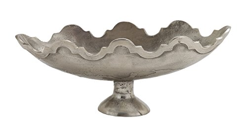 Deco 79 14714 Aluminum Oval Bowl, 22'' x 9'' by Deco 79