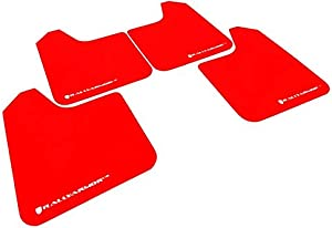 Rally Armor MF23-UR-RD/WH Red, White Mud Flap with Logo (13+ Subaru BRZ / 13+ Scion FR-S UR), 1 Pack
