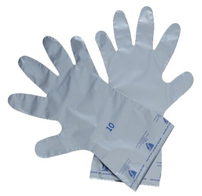 North®Silver Shield® Gloves, Silver, Large, 10 Pairs