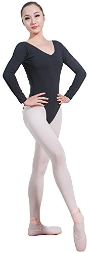 Cpdance(TM) Women's Long Sleeve Camisole Leotard,N062 31Vl82sB FL